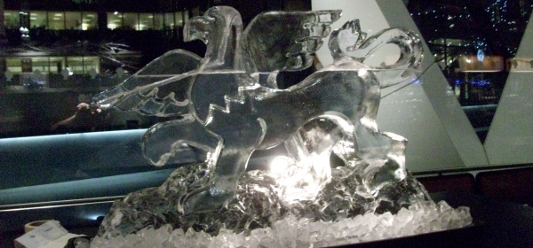 Ice statues and carvings